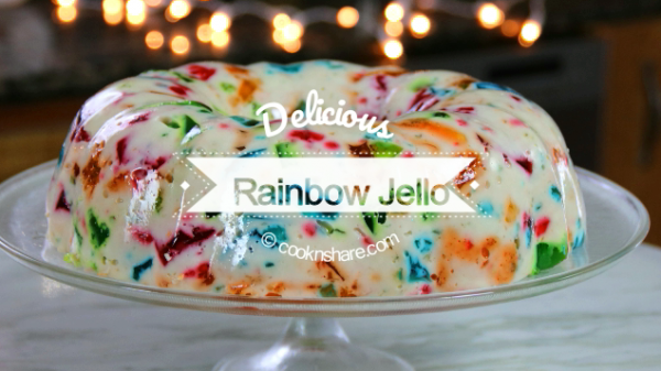 Rainbow Jello Cathedral Window Recipe