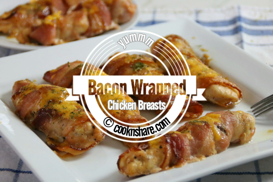Bacon Wrapped Chicken Breasts with Cheese