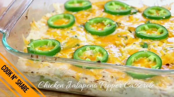 Chicken Jalapeno Popper Casserole