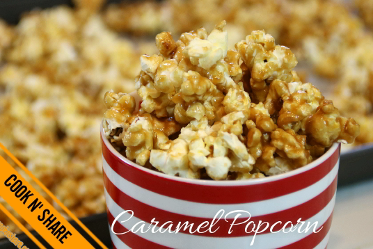 Caramel Popcorn Made Easy