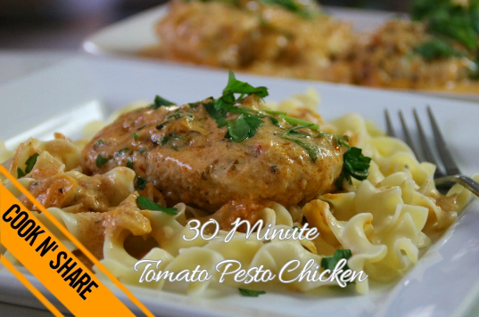 Creamy Tomato Pesto Chicken