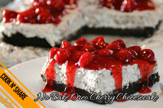No Bake Oreo Cherry Cheesecake
