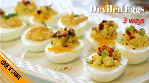 Deviled Eggs in Three Ways