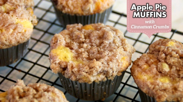 Apple Pie Muffins with Cinnamon Crumbs