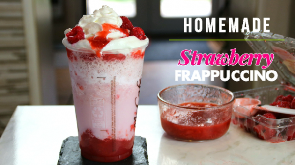 Homemade Strawberry Frappuccino