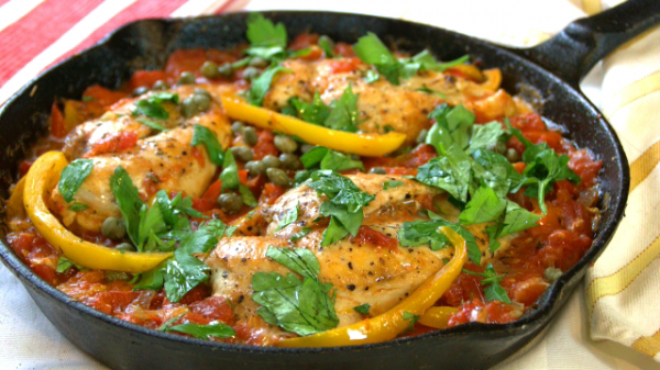 One Pan Chicken Breast Roman Style