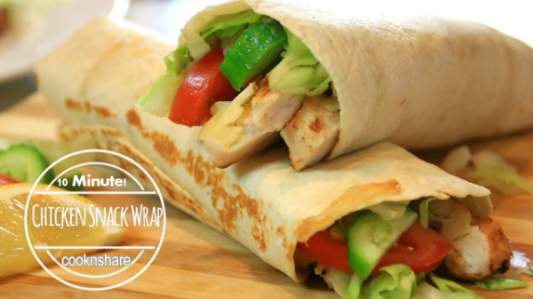 Ten Minutes Chicken Snack Wraps