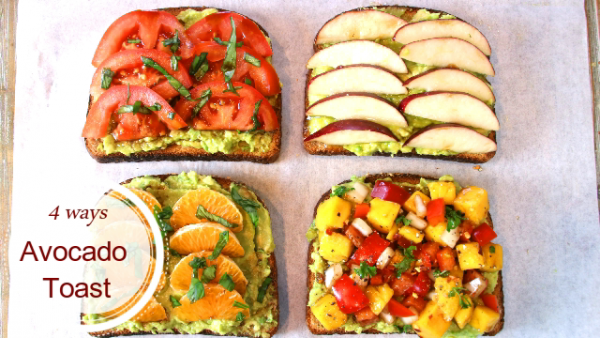 Avocado Toast Done Four Ways