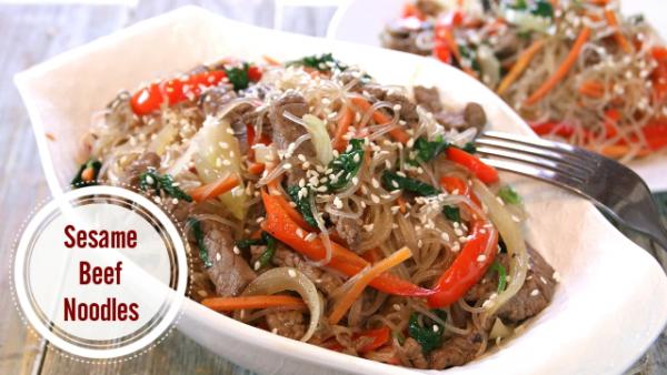 Sesame Beef Noodles