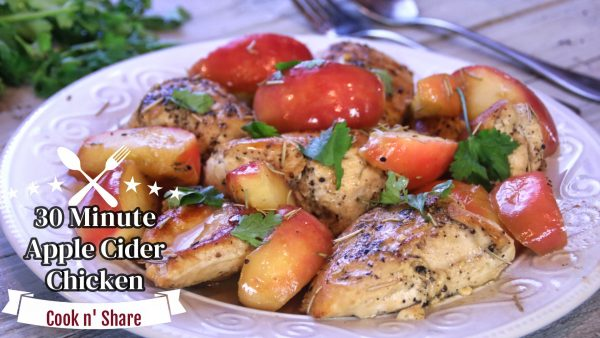 On Pan Apple Cider Chicken in 30 Minutes