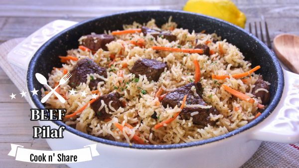 Simple and Easy Beef Pilaf (Plove)