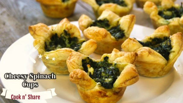 Spinach Cups – Easy and Delicious