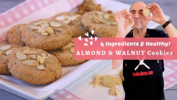 Almond and Walnut Cookies – 4 Ingredients