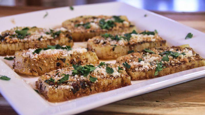spicygarliccheeseypotatoes