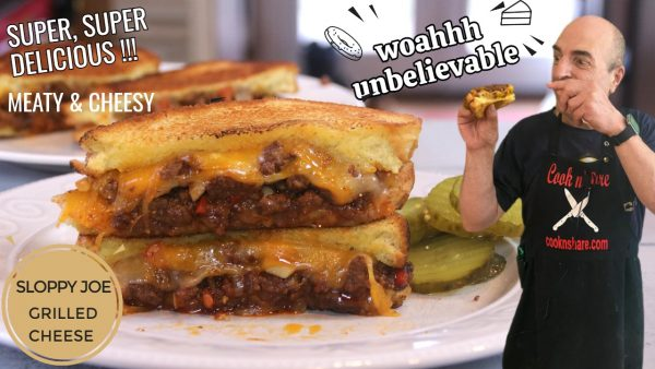 The Ultimate Sloppy Joe Grilled Cheese Sandwich